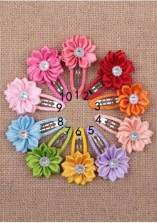 10Pcs Children Flower Hairpins Hair Clips