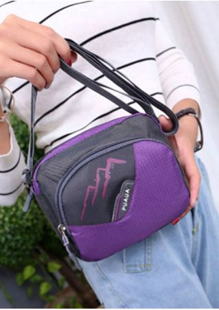 Multifunctional Zipper Crossbody Bag