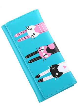 Cute Cat Card Holder Wallet