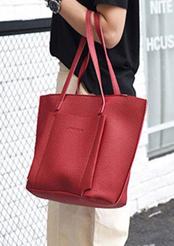 4Pcs Solid PU Handbag Shoulder Bag Tote Purse Set