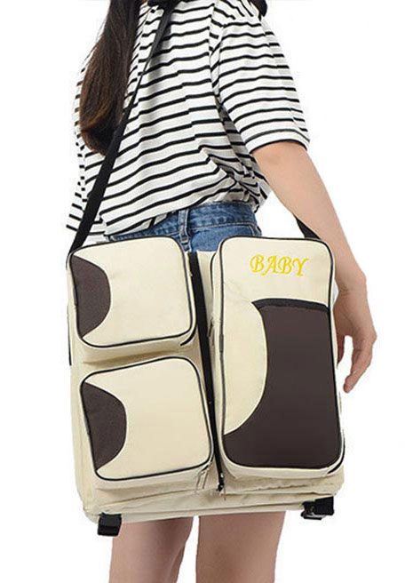Multifunctional Mummy Diaper Carrying Baby Bed Cosmetic Bag