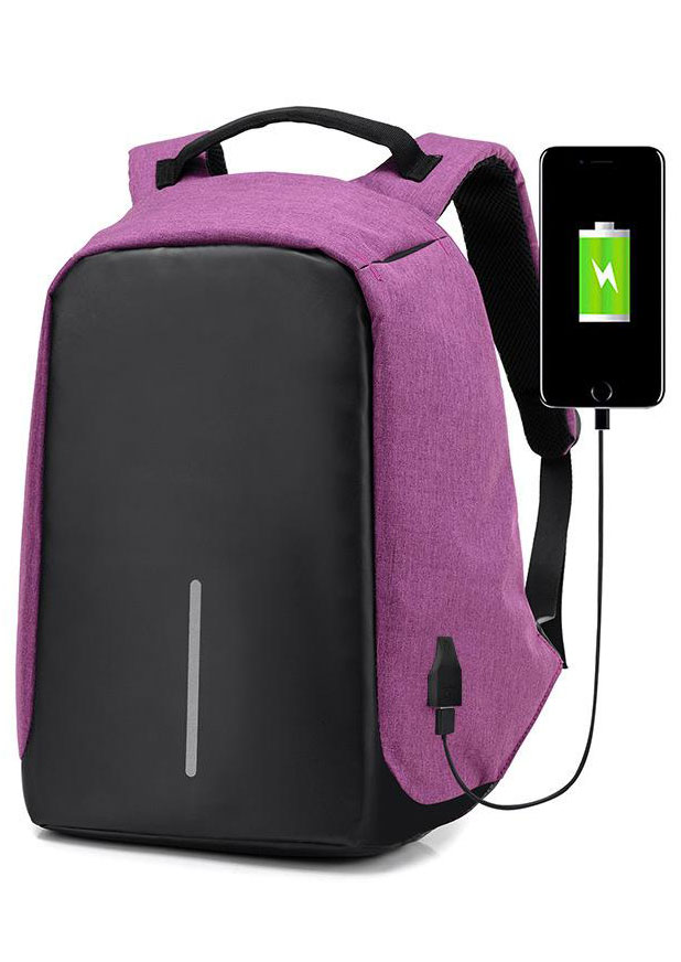 Anti-Theft USB Port Charger Travel Laptop Backpack