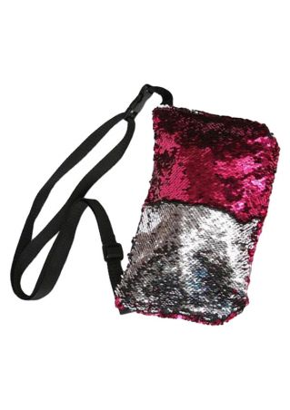 Sequined Cosmetic Waist Pack Belt Bag