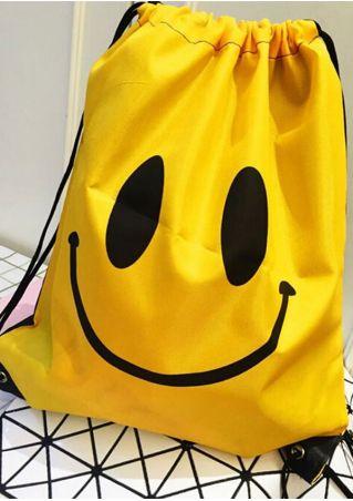 Emoji Drawstring Book Sport Swim Storage Bag