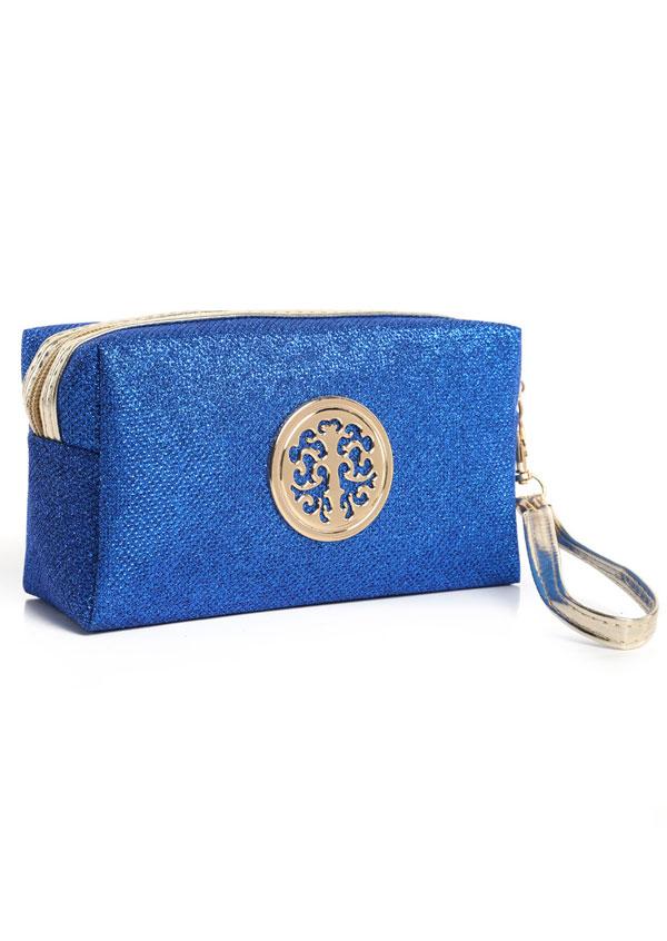 Zipper Embellishment Makeup Bag