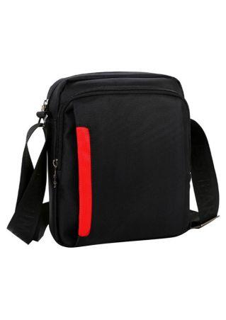 Travel Zipper Crossbody Shoulder Bag Black