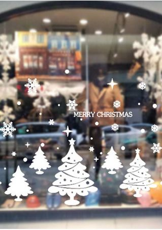 Christmas Tree Snowflake DIY Removable Wall Sticker