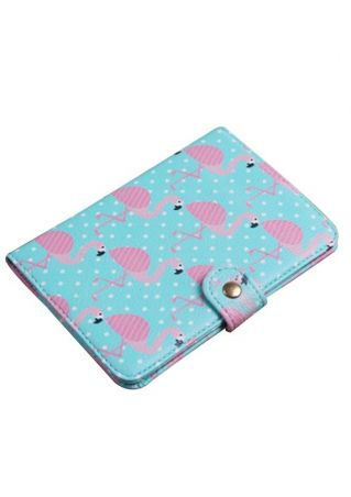 Flamingo PU Travel Passport Card Holder Wallet
