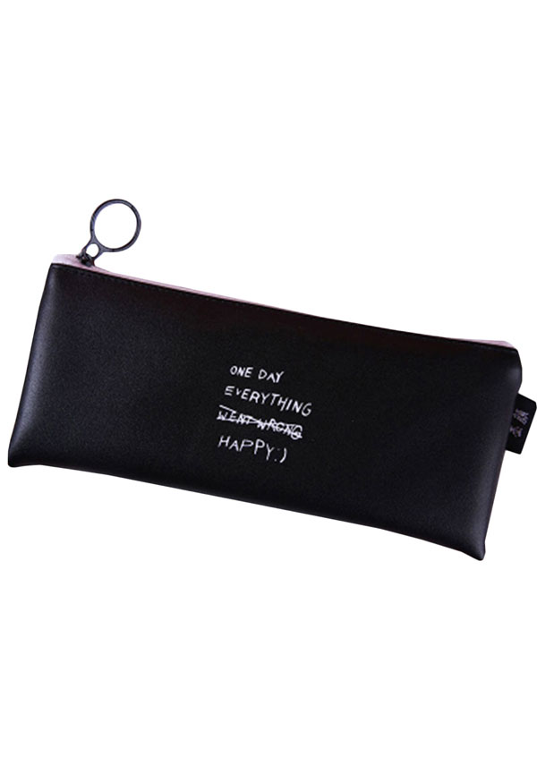Students Letter Zipper Pencil Stationery Bag