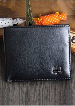 Men Letter PU Card Holder Clutch Wallet