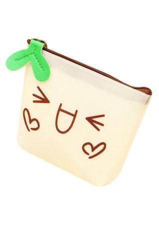 Students Lovely Emoji PU Clutch Wallet