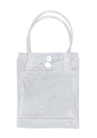 Solid Gift Packaging Bag Handbag Transparent