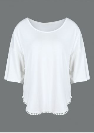 Solid Splicing Batwing Sleeve Blouse
