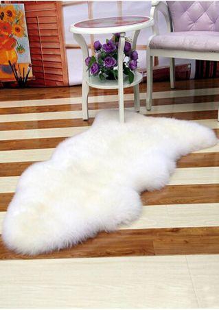 Solid Faux Fur Seat Pad & Floor Mat