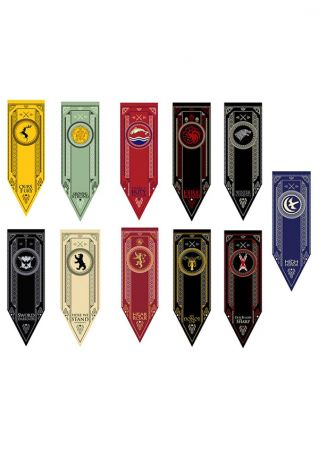 Game Of Thrones House Stark Tournament Banner Hanging Flag