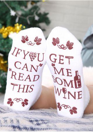 Get Me Some Wine Socks