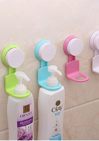 Bathroom Wall Rack Strong Suction Storage Hooks - Random Color