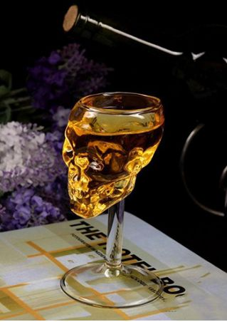 Transparent Skull Shape Wine Glass