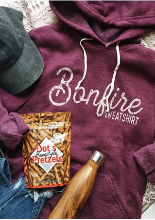 Bonfire Sweatshirt Pocket Drawstring Hoodie