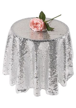 Solid Round Tablecloth