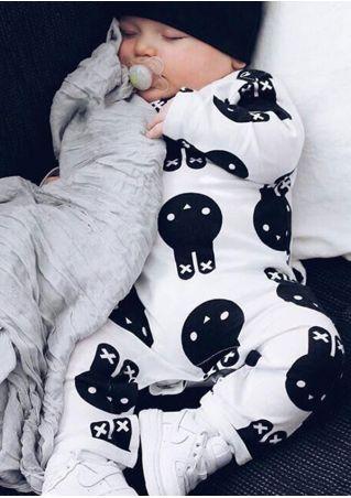 Baby Rabbit Printed Jumpsuit White