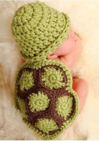 Baby Tortoise Crochet Hat Photo Outfit