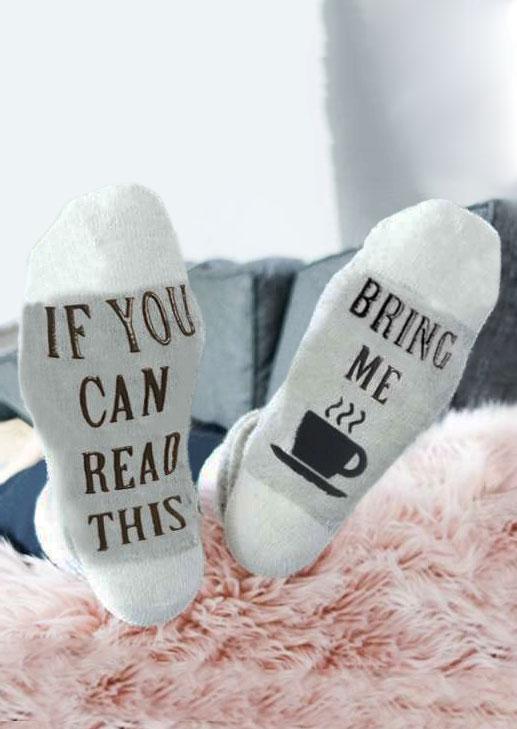 Bring Me Coffee Warm Socks