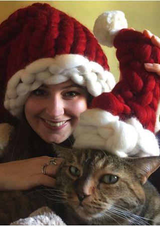 Knitted Chunky Santa Hat