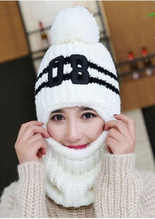 08 Pompon Knitted Warm Hat