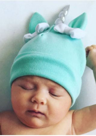 Baby Unicorn Bowknot Warm Hat