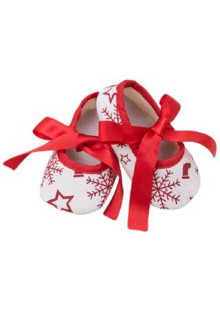 Baby Snowflake Santa Shoes