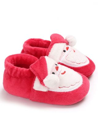 Christmas Baby Santa Claus Warm Shoes Red