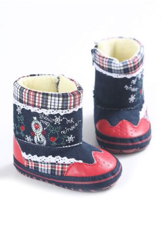 Baby Reindeer Snowman Shoes Multicolor