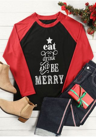 Eat Drink And Be Merry Baseball T-Shirt
