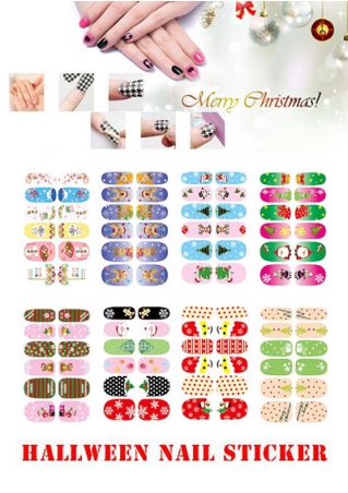 12Pcs/Set 3D  Nail Art Nail Stickers