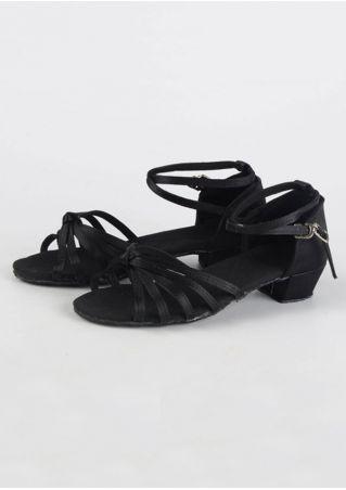 Girls Summer Buckle Strap Latin Dance Sandals