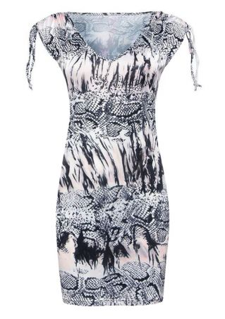 Ink Serpentine Printed Bodycon Dress