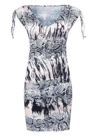 Ink Serpentine Printed Bodycon Dress