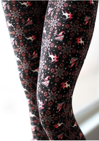 Christmas Reindeer Skinny Leggings
