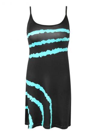 Color Block Spaghetti Strap Mini Dress