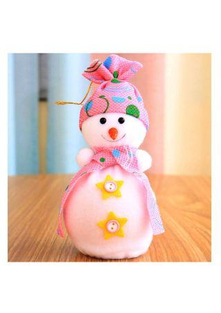 Christmas Snowman Bear Cloth Ornament