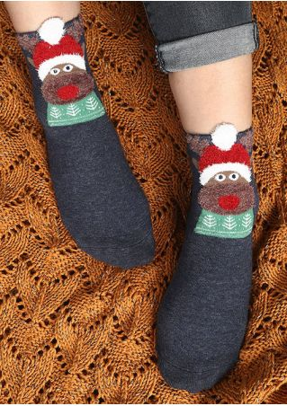 Christmas Cartoon Animal Socks