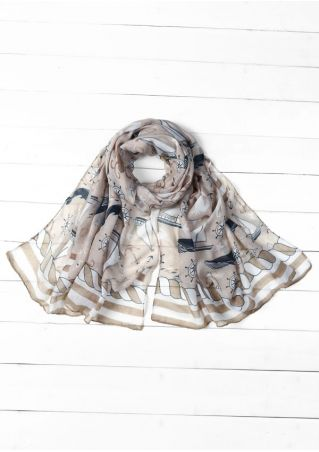 Sailboat Anchor Fashion Scarf