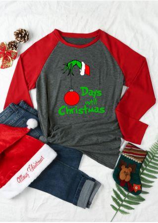 Days Until Christmas Baseball T-Shirt