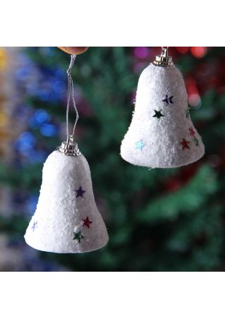 6Pcs Small Bell Snow String Hanging Christmas Bell