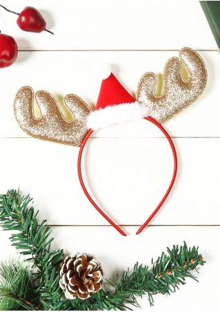 Christmas Santa Hat Antler Headband