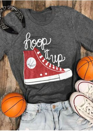 Hoop It Up Shoes O-Neck T-Shirt