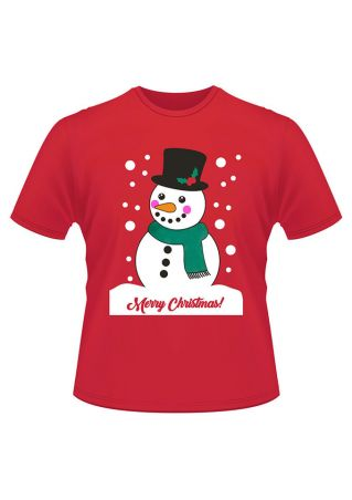 Merry Christmas Snowflake O-Neck T-Shirt