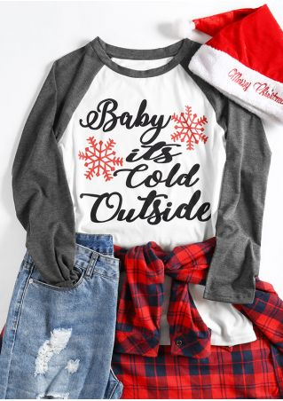 Christmas Plus Size Baby It's Cold Outside Baseball T-Shirt