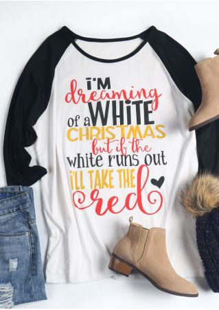 Plus Size Dreaming Of A White Christmas Baseball T-Shirt
